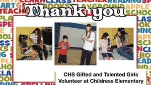 CHS Gifted and Talented Girls Volunteer at Childress Elementary