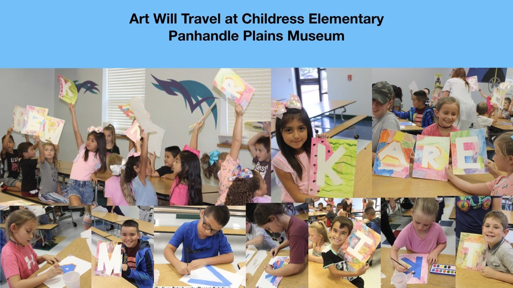 Art Will Travel at Childress Elementary K-Second Grades Students