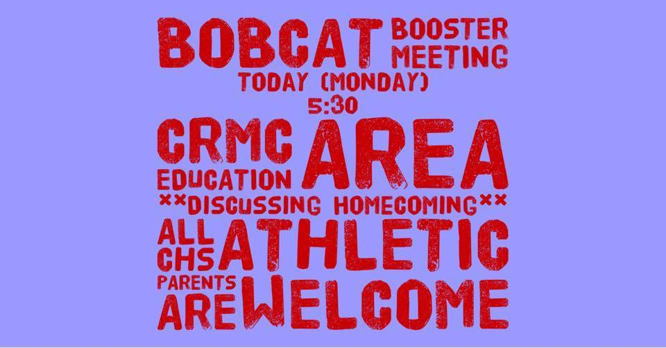 Bobcat Booster meeting